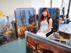 "Danya Yu with her latest artworks for her upcoming solo exhibition, Colors of Comple-X-city - colors of the ""third culture kid"""