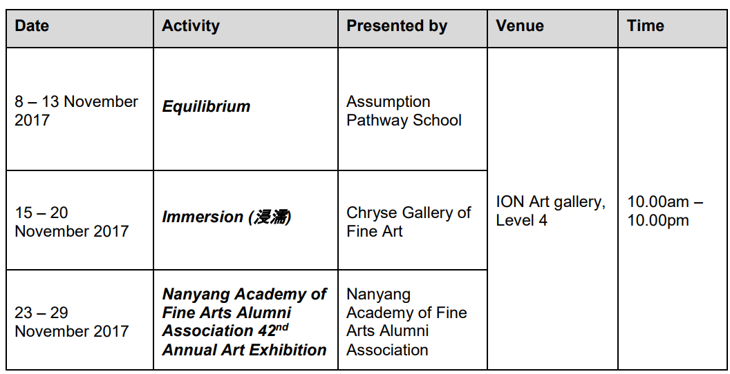 singapore art event