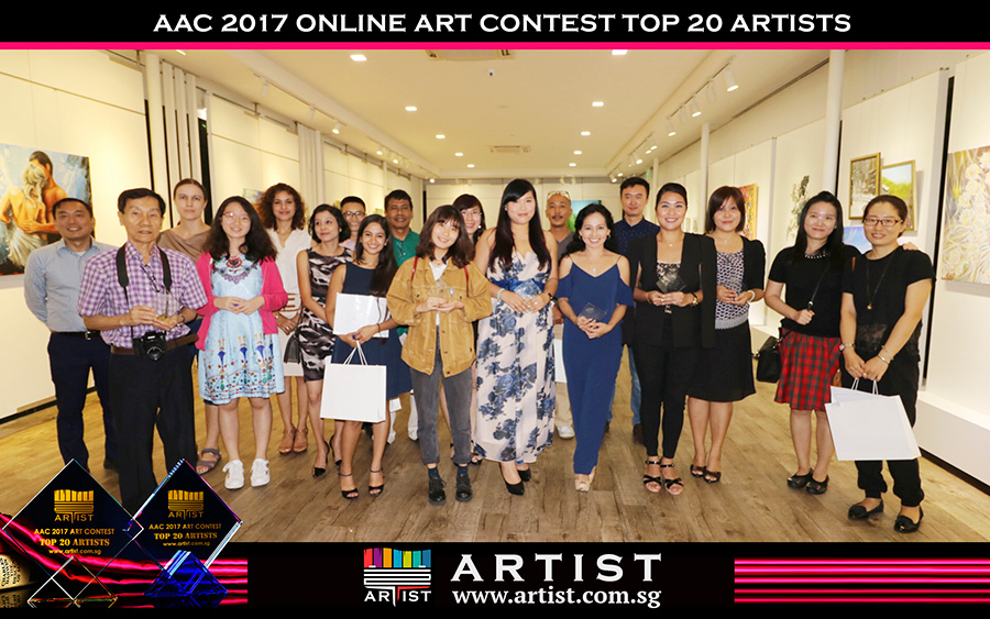 Singapore art event aac2017 art contest winners
