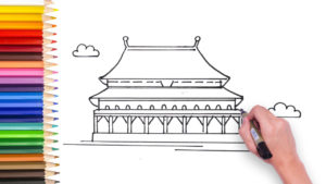 how to draw forbidden city