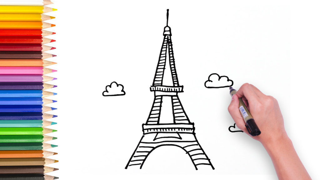 learn how to draw eiffel tower