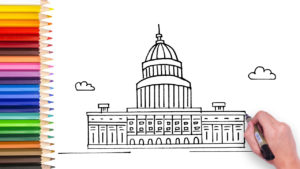 how to draw us capital building