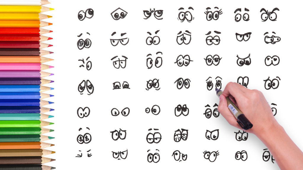 Drawing Video 49 Different Types Of Cartoon Eyes How To Draw