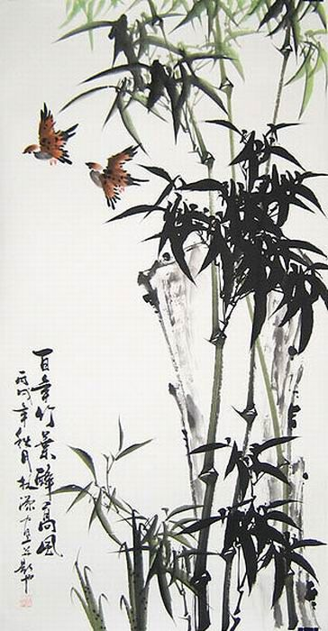 Chinese painting bamboo appreciation