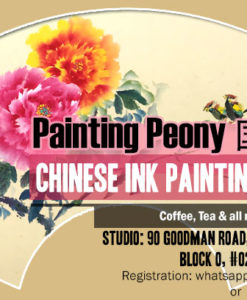 Chinese painting workshop - peony painting