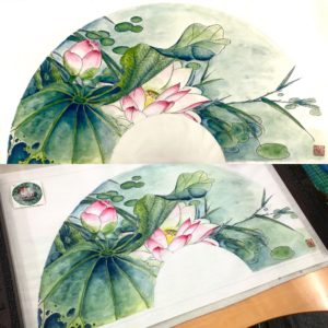 Gongbi chinese painting workshop