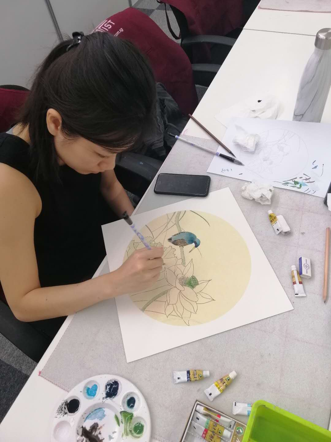 gongbi painting workshop