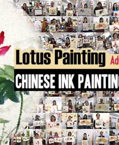 singapore chinese painting workshop - lotus painting