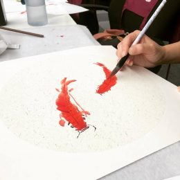 koi fish chinese painting