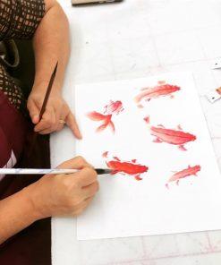 koi fish chinese painting