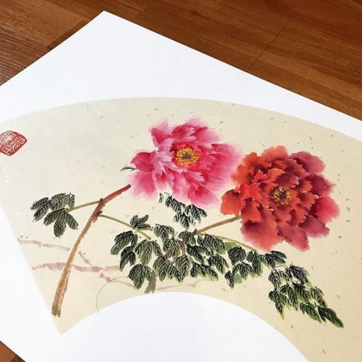 chinese painting beginner class - peony painting