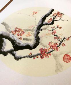 chinese painting beginner class - plum tree painting
