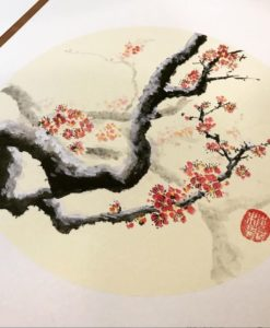 chinese painting beginner class - plum tree painting