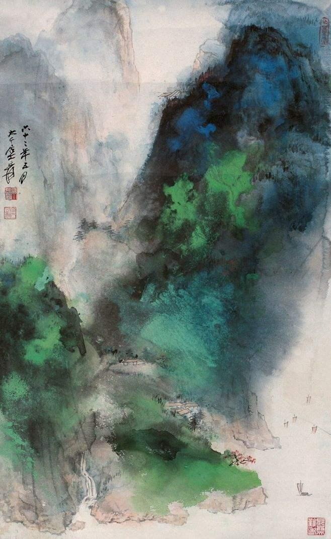 famous chinese painting artist zhang daqian
