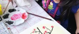 Chinese painting course for kids - plum flower