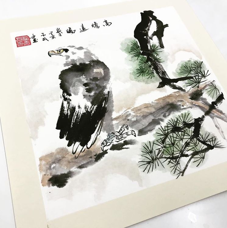 singapore chinese painting course eagle painting