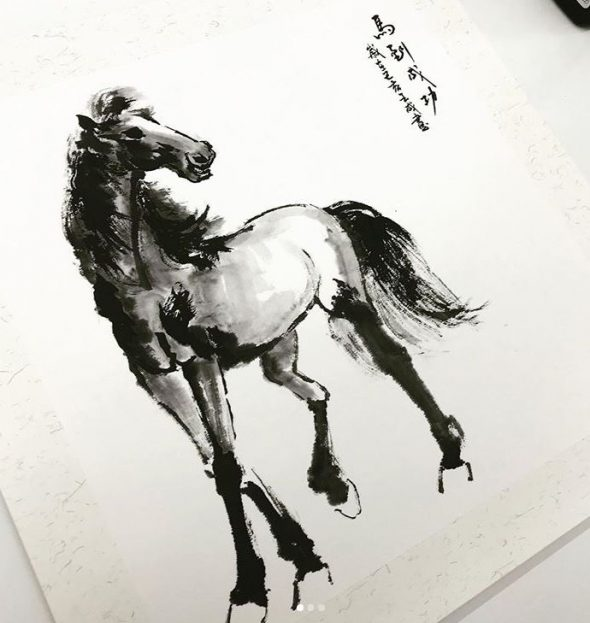 singapore chinese painting course horse painting