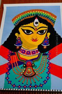Day 12 < Indian Goddess 'Ma Durga' > by Tuhina Chakravarty